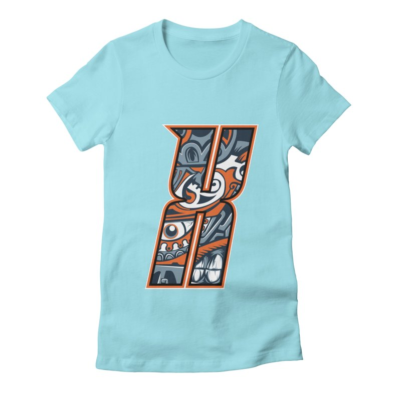 Crazy Face Alphabet (X) Women's T-Shirt by Yaky's Customs