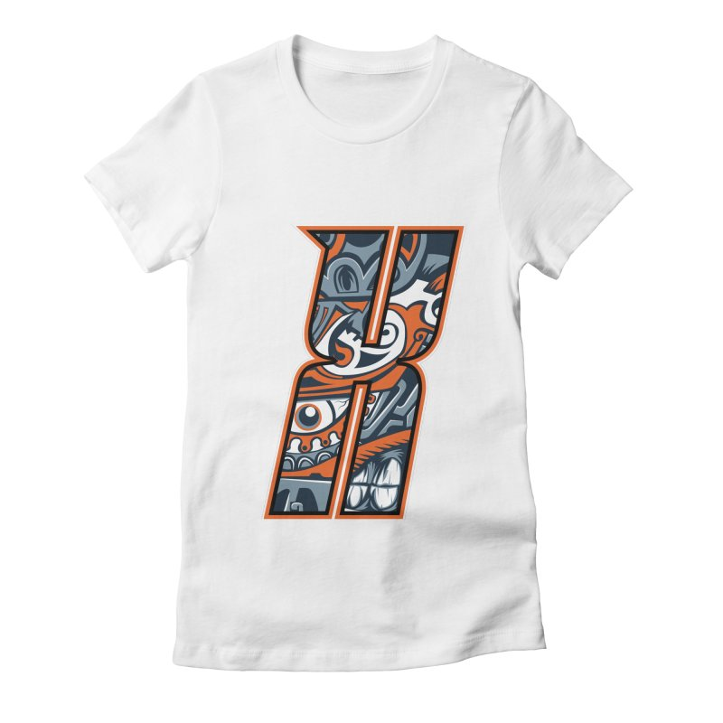 Crazy Face Alphabet (X) Women's T-Shirt by Art of Yaky Artist Shop