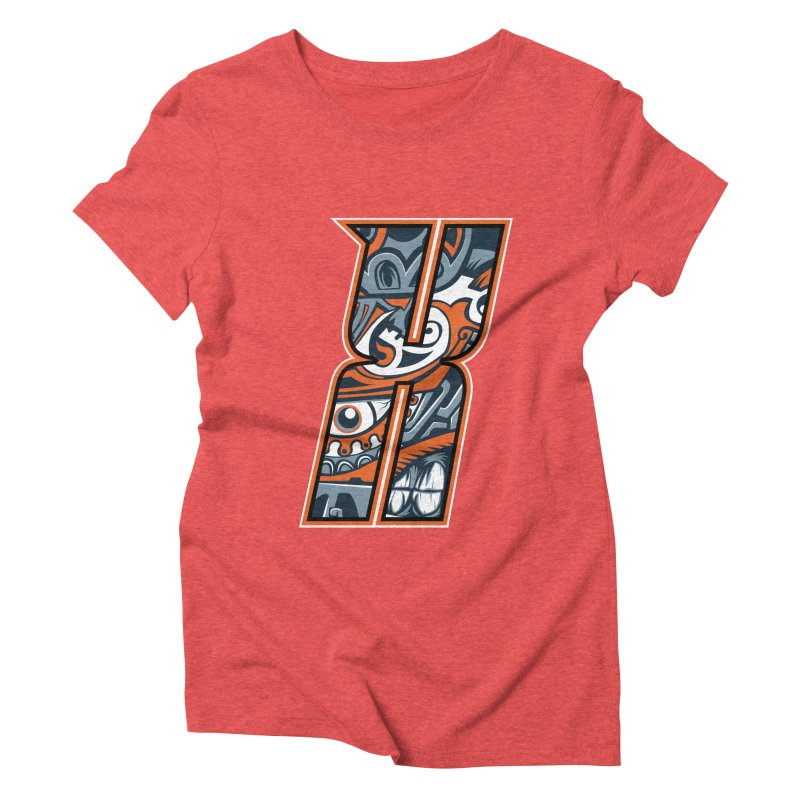 Crazy Face_X002 Women's Triblend T-Shirt by Art of Yaky Artist Shop