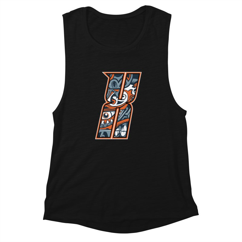Crazy Face_X002 Women's Muscle Tank by Art of Yaky Artist Shop
