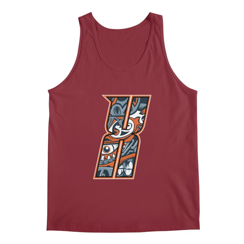 Crazy Face_X002 Men's Regular Tank by Art of Yaky Artist Shop