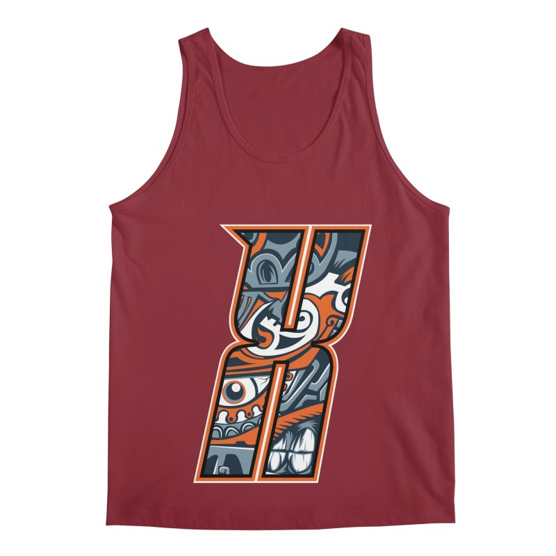 Crazy Face_X002 Men's Tank by Art of Yaky Artist Shop