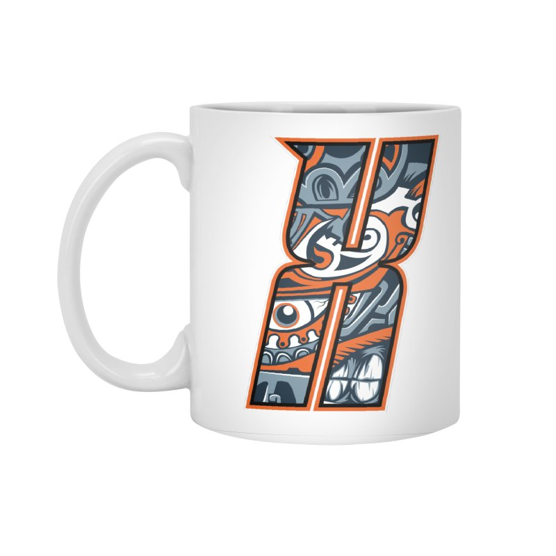 Crazy Face_X002 Accessories Mug by Art of Yaky Artist Shop