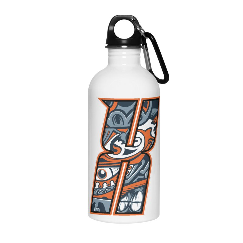 Crazy Face_X002 Accessories Water Bottle by Art of Yaky Artist Shop