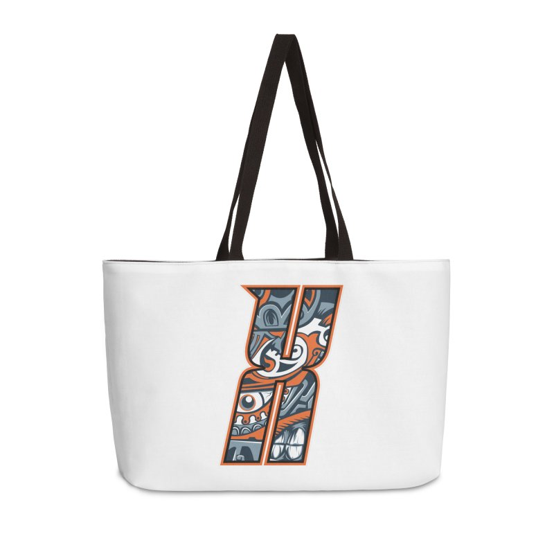 Crazy Face_X002 Accessories Weekender Bag Bag by Art of Yaky Artist Shop