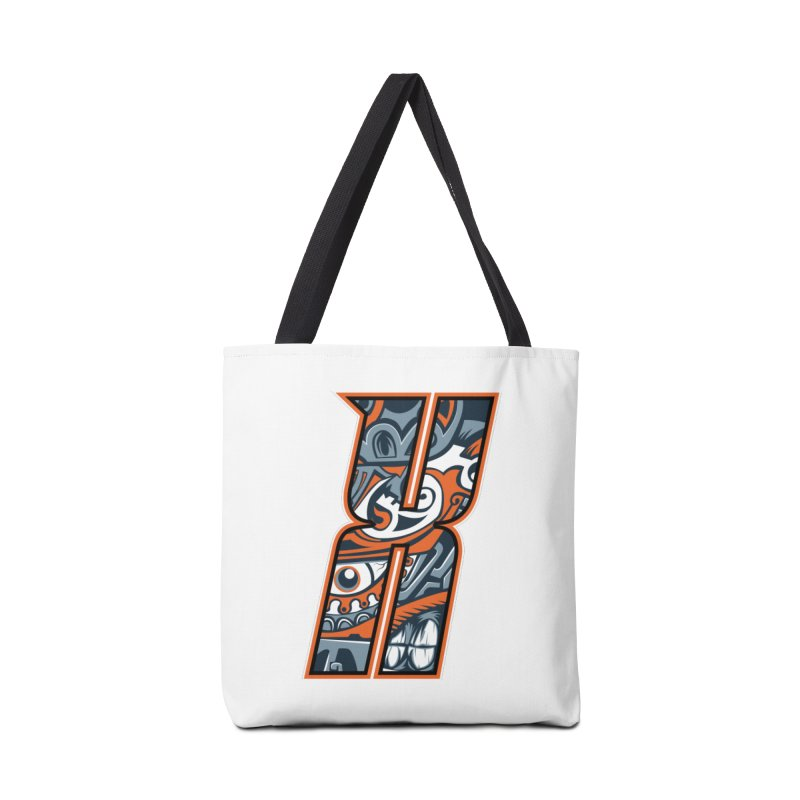 Crazy Face_X002 Accessories Tote Bag Bag by Art of Yaky Artist Shop