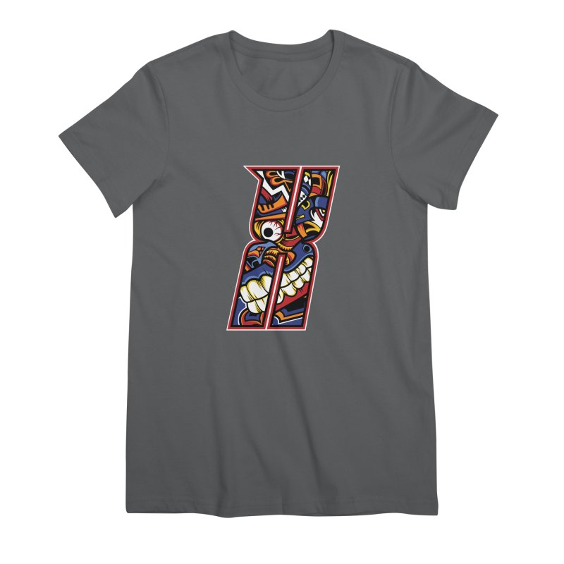 Crazy Face_X003 Women's Premium T-Shirt by Art of Yaky Artist Shop