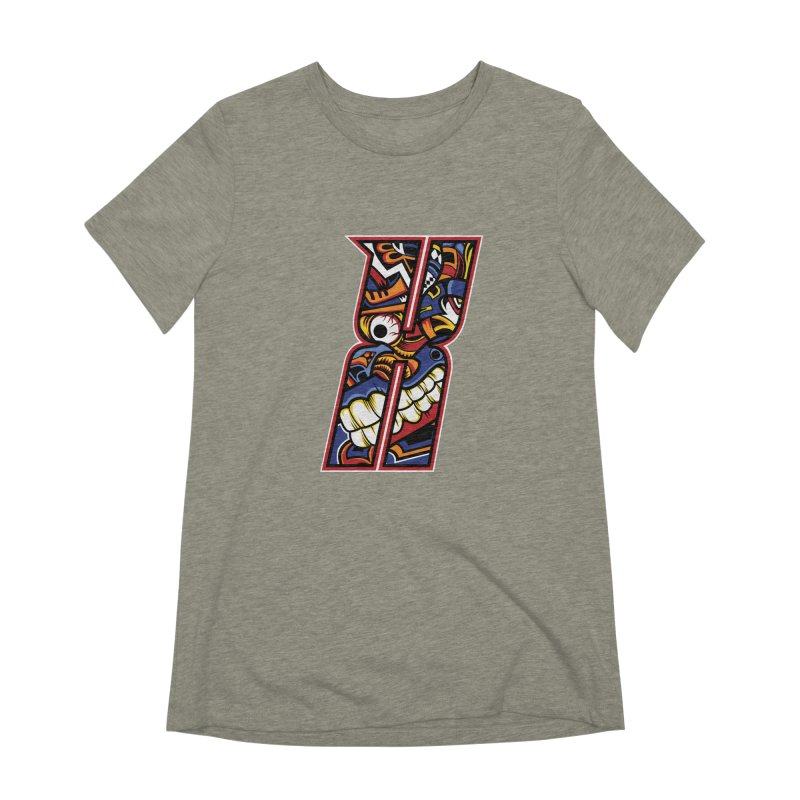 Crazy Face_X003 Women's Extra Soft T-Shirt by Art of Yaky Artist Shop