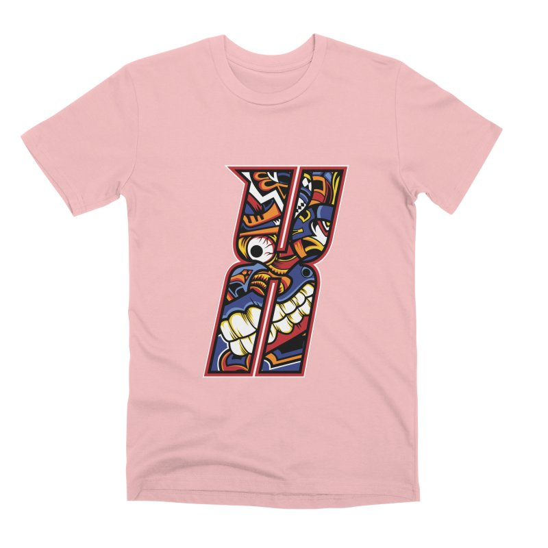Crazy Face_X003 Men's Premium T-Shirt by Art of Yaky Artist Shop
