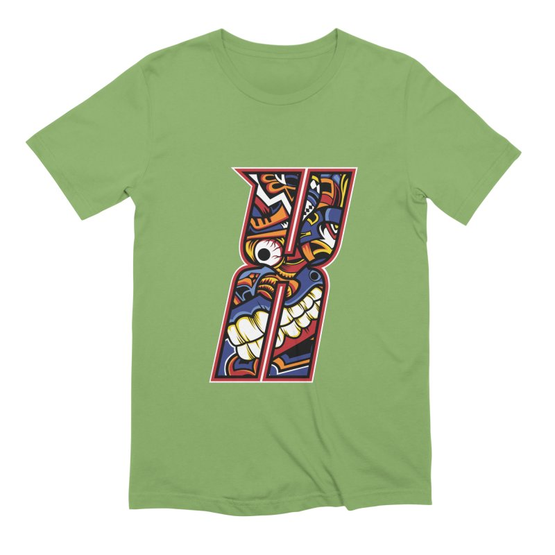 Crazy Face_X003 Men's Extra Soft T-Shirt by Art of Yaky Artist Shop