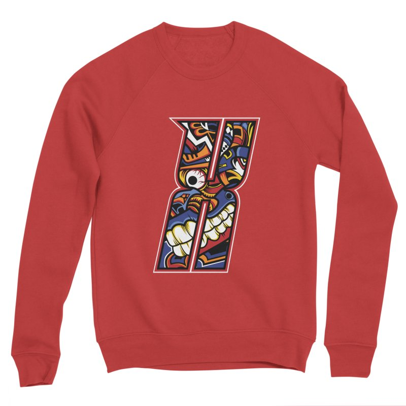 Crazy Face_X003 Men's Sponge Fleece Sweatshirt by Art of Yaky Artist Shop