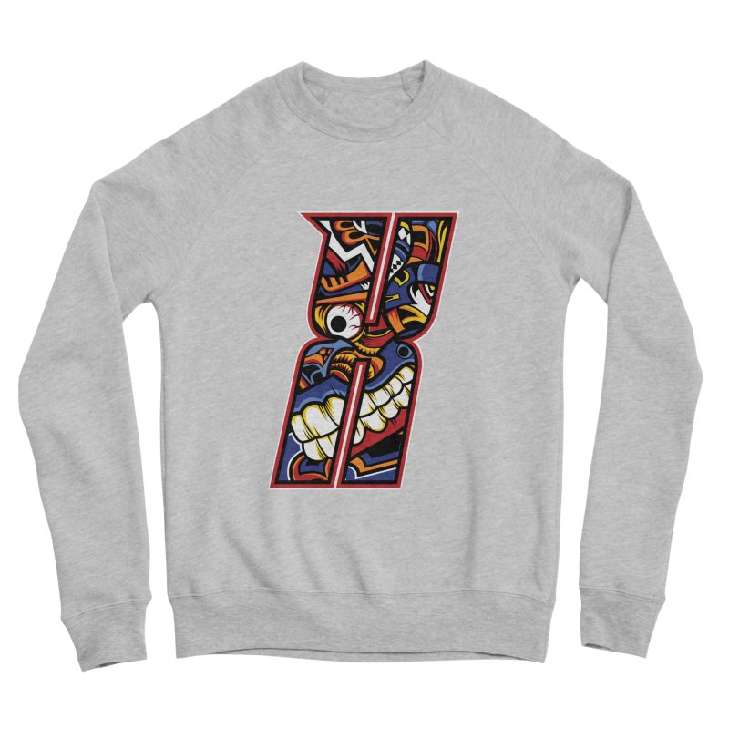 Crazy Face_X003 Men's Sponge Fleece Sweatshirt by Art of Yaky Artist Shop