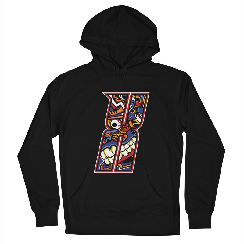 Crazy Face_X003 Men's French Terry Pullover Hoody by Art of Yaky Artist Shop