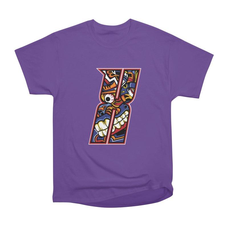 Crazy Face_X003 Women's Heavyweight Unisex T-Shirt by Art of Yaky Artist Shop