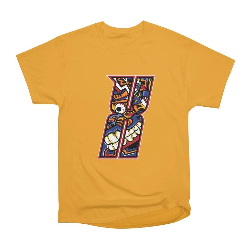 Crazy Face_X003 Men's Heavyweight T-Shirt by Art of Yaky Artist Shop