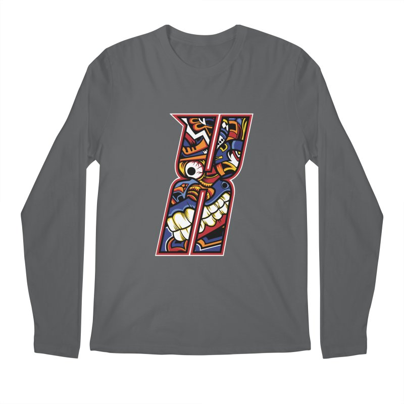 Crazy Face Alphabet (X) Men's Longsleeve T-Shirt by Yaky's Customs
