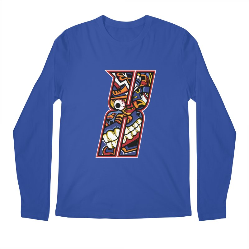 Crazy Face_X003 Men's Regular Longsleeve T-Shirt by Art of Yaky Artist Shop