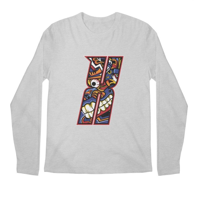 Crazy Face_X003 Men's Regular Longsleeve T-Shirt by Art of Yaky Artist Shop