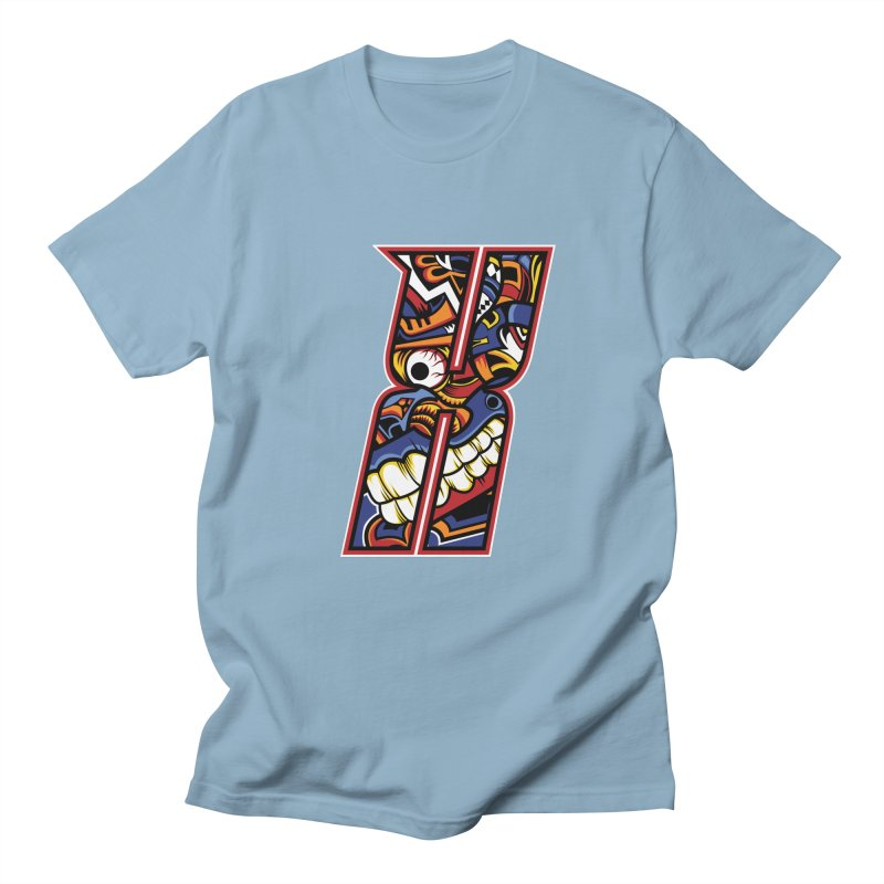 Crazy Face_X003 Men's T-Shirt by Art of Yaky Artist Shop