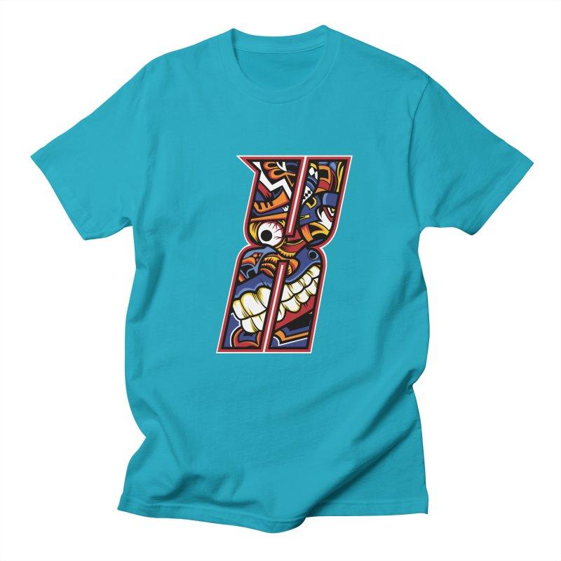 Crazy Face_X003 Men's Regular T-Shirt by Art of Yaky Artist Shop