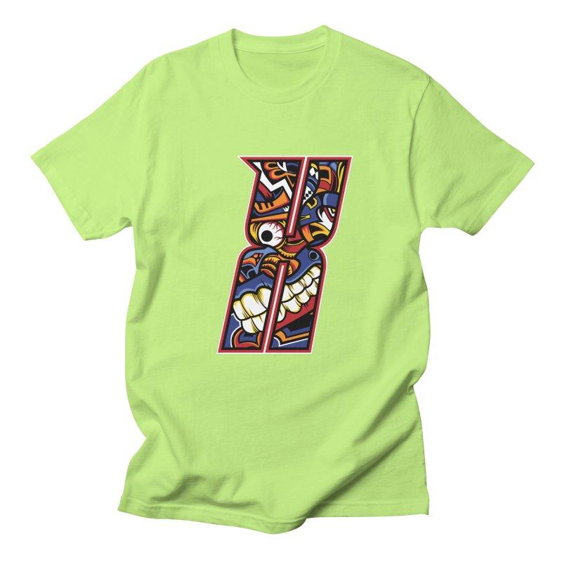 Crazy Face_X003 Men's T-Shirt by Art of Yaky Artist Shop