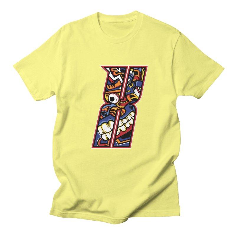 Crazy Face_X003 Women's Regular Unisex T-Shirt by Art of Yaky Artist Shop