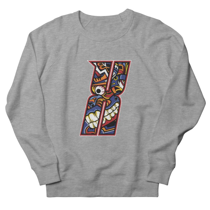 Crazy Face_X003 Women's French Terry Sweatshirt by Art of Yaky Artist Shop