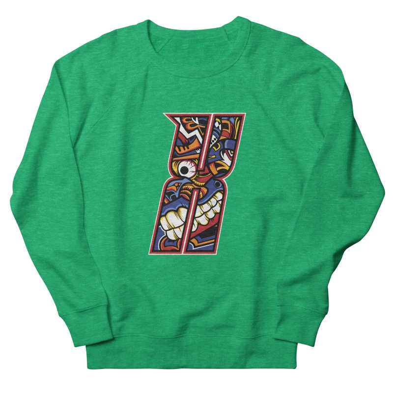 Crazy Face_X003 Men's French Terry Sweatshirt by Art of Yaky Artist Shop