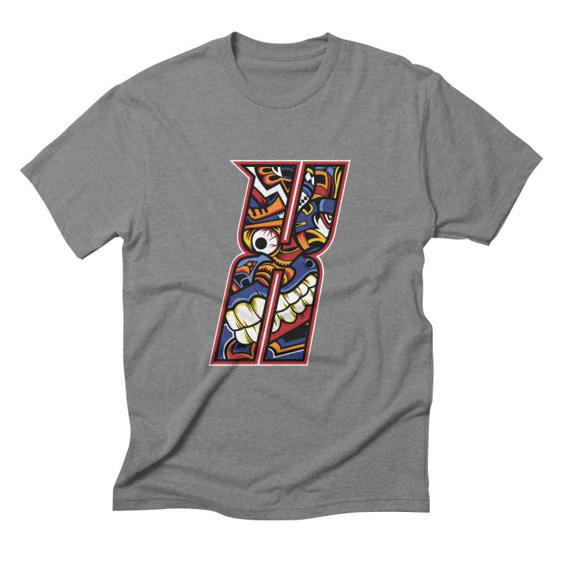 Crazy Face_X003 Men's Triblend T-Shirt by Art of Yaky Artist Shop