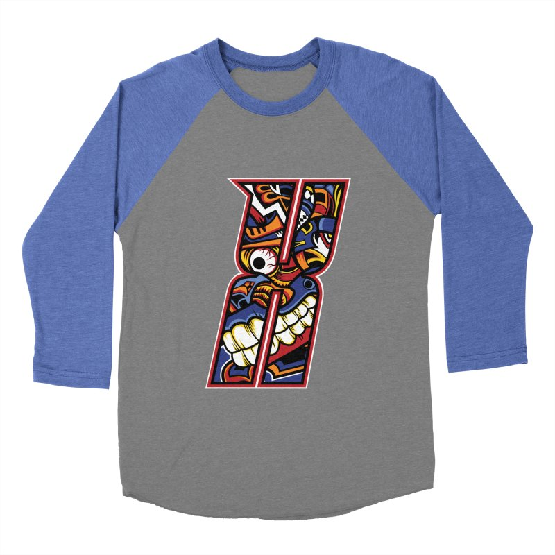 Crazy Face_X003 Women's Baseball Triblend Longsleeve T-Shirt by Art of Yaky Artist Shop