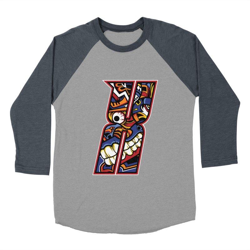 Crazy Face_X003 Men's Baseball Triblend Longsleeve T-Shirt by Art of Yaky Artist Shop