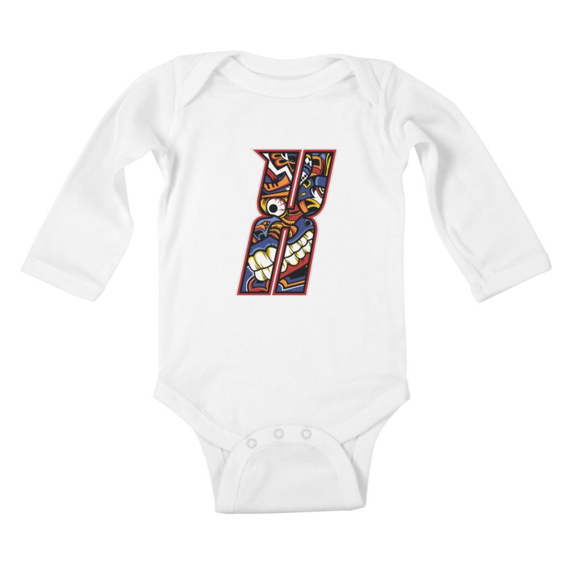 Crazy Face_X003 Kids Baby Longsleeve Bodysuit by Art of Yaky Artist Shop