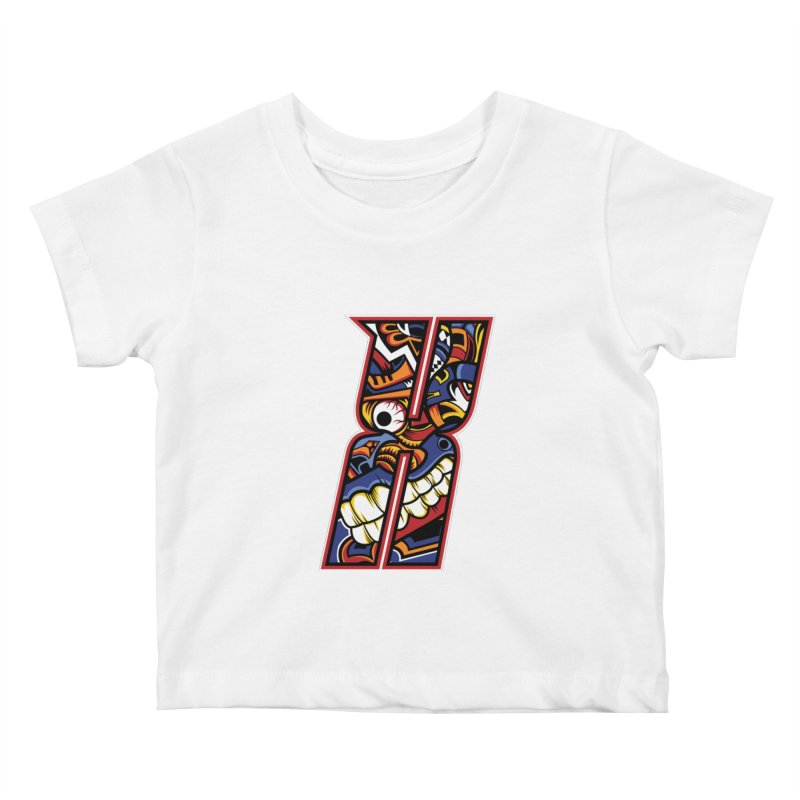 Crazy Face_X003 Kids Baby T-Shirt by Art of Yaky Artist Shop