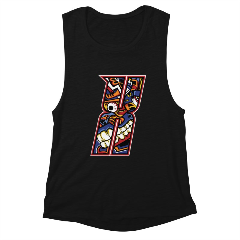 Crazy Face_X003 Women's Tank by Art of Yaky Artist Shop