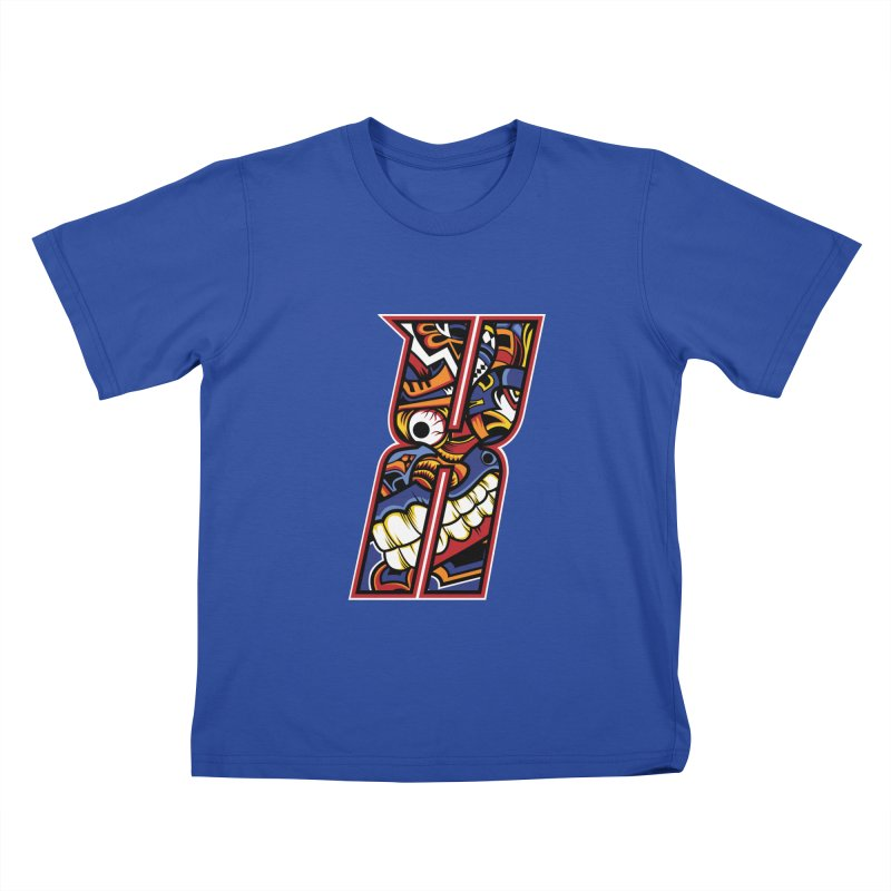 Crazy Face_X003 Kids T-Shirt by Art of Yaky Artist Shop