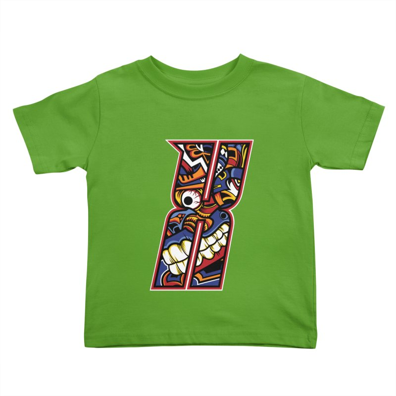 Crazy Face_X003 Kids Toddler T-Shirt by Art of Yaky Artist Shop