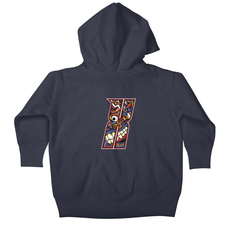 Crazy Face Alphabet (X) Kids Baby Zip-Up Hoody by Yaky's Customs