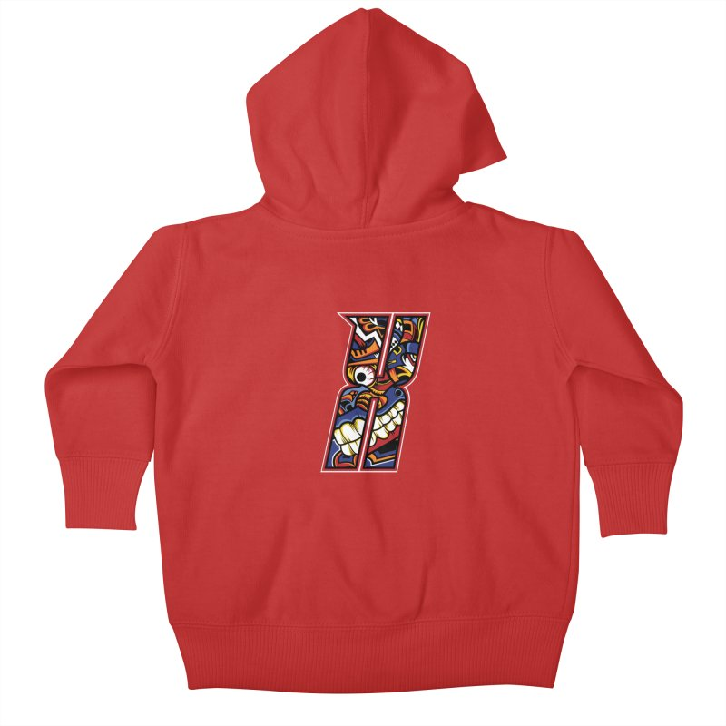 Crazy Face_X003 Kids Baby Zip-Up Hoody by Art of Yaky Artist Shop
