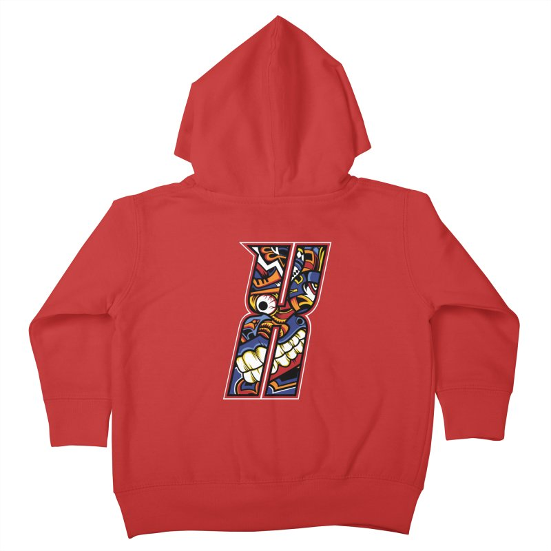 Crazy Face_X003 Kids Toddler Zip-Up Hoody by Art of Yaky Artist Shop