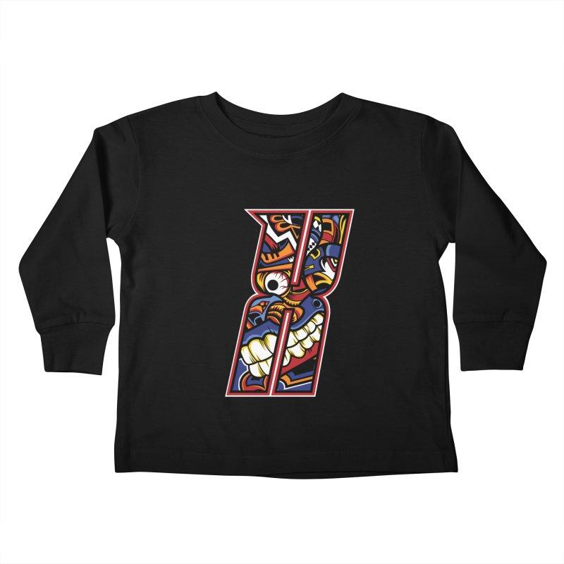 Crazy Face_X003 Kids Toddler Longsleeve T-Shirt by Art of Yaky Artist Shop