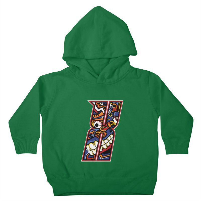 Crazy Face_X003 Kids Toddler Pullover Hoody by Art of Yaky Artist Shop