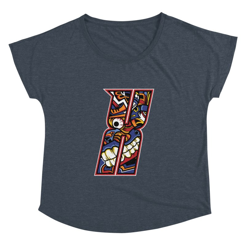 Crazy Face_X003 Women's Dolman Scoop Neck by Art of Yaky Artist Shop