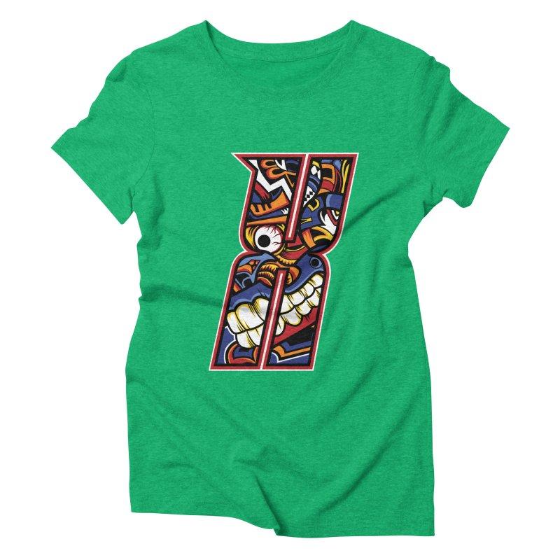 Crazy Face_X003 Women's Triblend T-Shirt by Art of Yaky Artist Shop