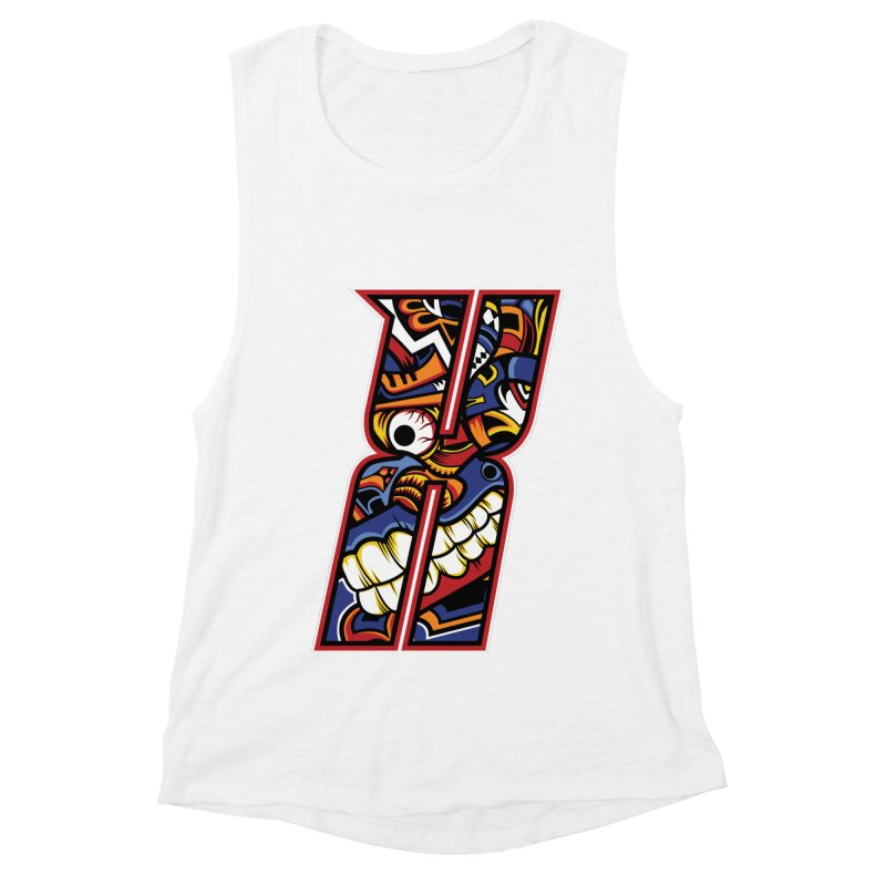 Crazy Face_X003 Women's Muscle Tank by Art of Yaky Artist Shop