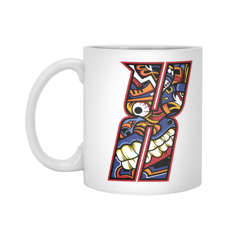 Crazy Face_X003 Accessories Standard Mug by Art of Yaky Artist Shop