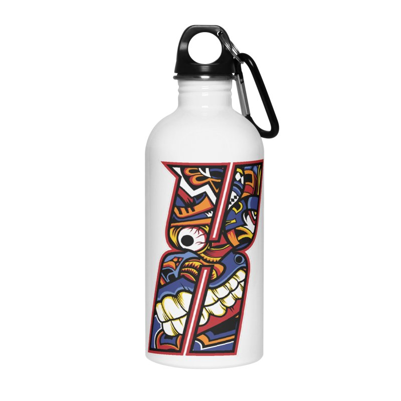 Crazy Face_X003 Accessories Water Bottle by Art of Yaky Artist Shop