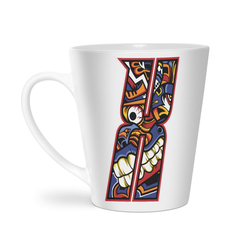 Crazy Face_X003 Accessories Latte Mug by Art of Yaky Artist Shop
