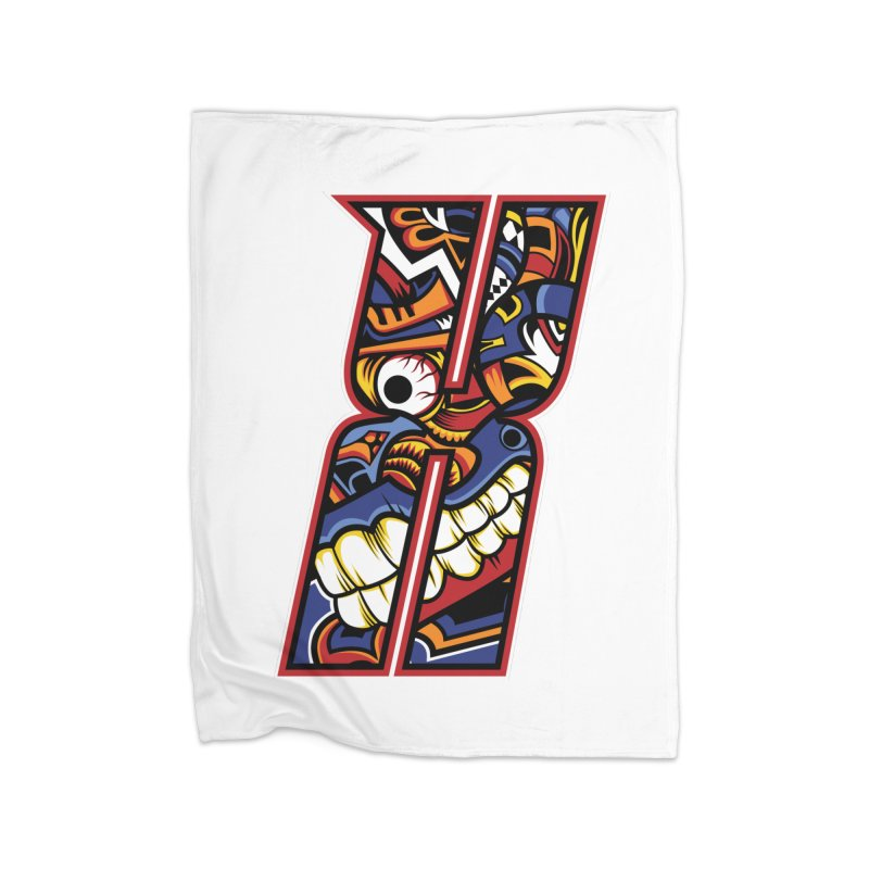 Crazy Face Alphabet (X) Home Blanket by Yaky's Customs