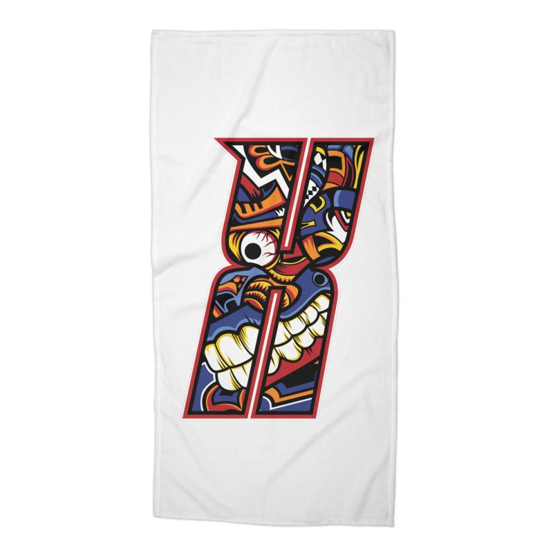 Crazy Face_X003 Accessories Beach Towel by Art of Yaky Artist Shop