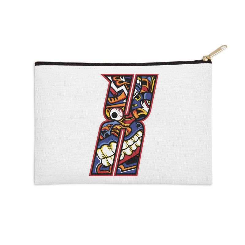 Crazy Face_X003 Accessories Zip Pouch by Art of Yaky Artist Shop
